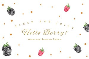 Hello Berry! Seamless Pattern