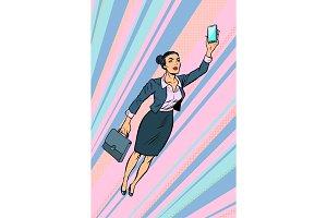 woman businesswoman, superhero