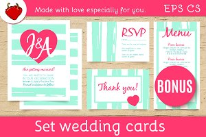 Wedding invitation trendly templates