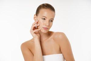 Adult woman portrait, skin care