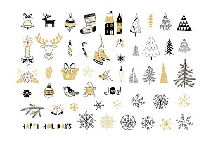 Christmas Decoration Clip-arts set