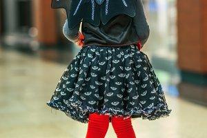 modern child in bat costume on Hallo