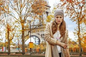 young elegant woman in Paris, France