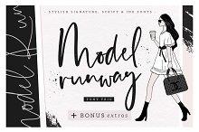 Model Runway Fonts + BONUS Extras