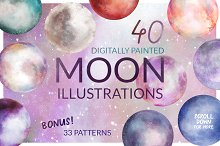 Moon Illustration Set