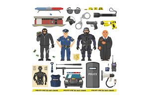 Police vector people policeman and