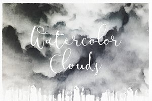 Watercolor Clouds - Textures