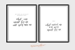 Set of 2 - What was meant for me