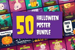 50 Halloween Posters Bundle