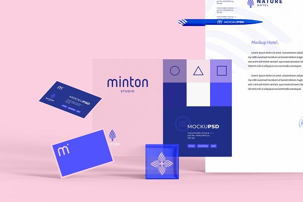 Graphics: minton mockup - Nature Hotel
