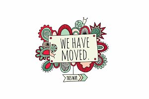 We Have Moved Clipart
