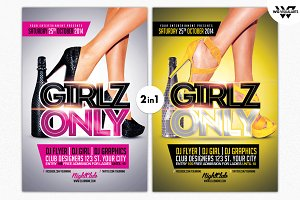 GIRLS ONLY Flyer Template