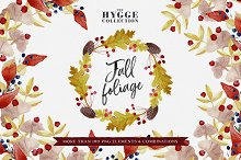 HYGGE Fall Foliage Illustration Set