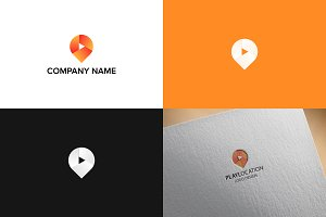 Pin map logo design