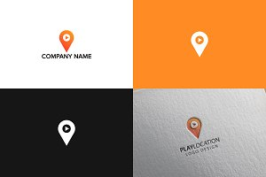 Pin map logo design