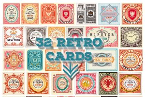 Bundle of 32 retro cards, only 11$