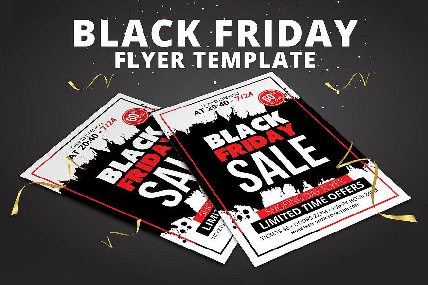 big sale flyer flyer templates creative market pro. Black Bedroom Furniture Sets. Home Design Ideas
