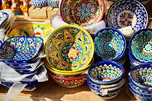 Decorative ceramic traditional Uzbek