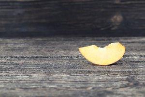 one slice peach
