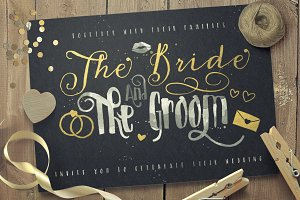 Just Married! Wedding font