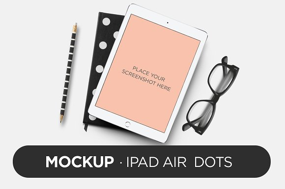 Free Mockup - iPad Air Dots