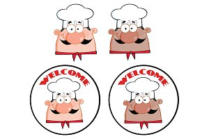 Chef Face Character Collection