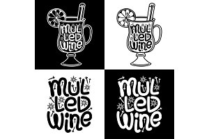 Cute set of Mulled Wine hand drawn