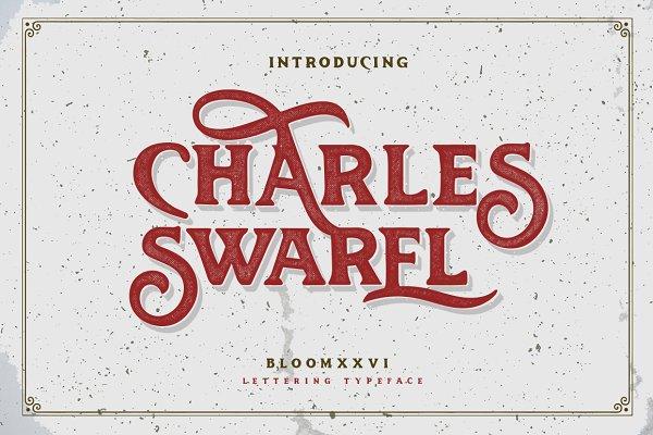 Display Fonts: bloomxxvi - Charles Swarel