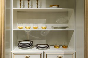 Interior of modern kitchen with eleg
