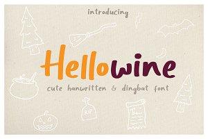 Hellowine - Cute Handwritten Font