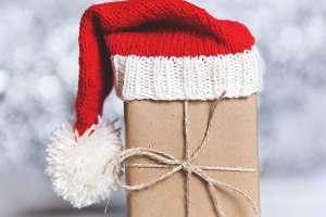 closeup of a Christmas box in the Sa