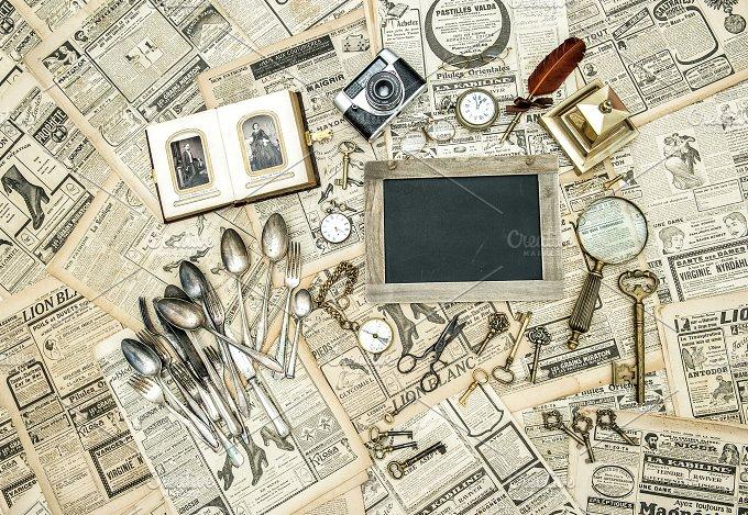 Antique goods. Flea market sale - Arts & Entertainment