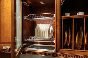 Stylish kitchen with elegant tablewa