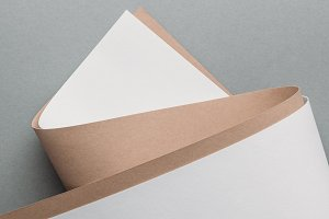blank white and brown paper sheets o
