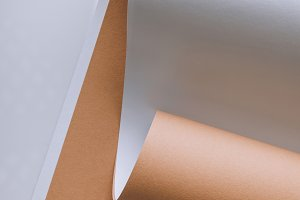 empty white and brown paper sheets o