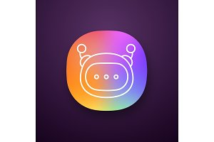 Chatbot message app icon
