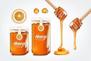 Realistic honey set