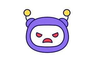 Angry robot emoji color icon