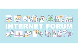 Internet forum word concepts banner