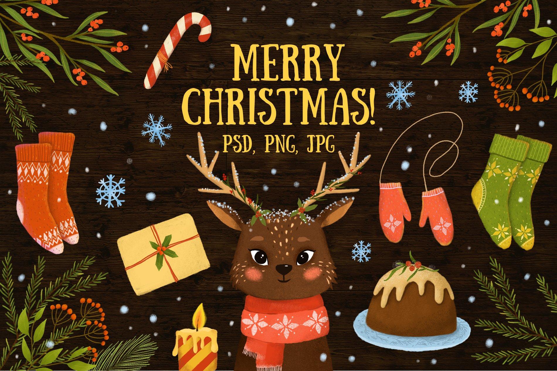 Merry Christmas ~ Illustrations ~ Creative Market