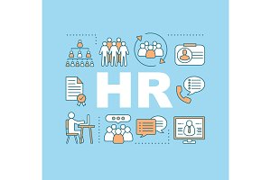 HR management word concepts banner