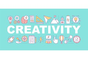 Creativity word concepts banner