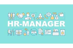 HR management word concepts banner