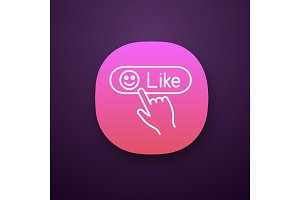 Like button click app icon