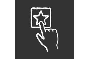 Add to favorite button chalk icon