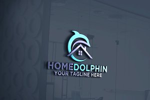 Home Dolphin Logo Template
