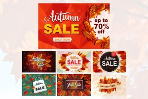 7 Autumn Sale Fall Leaves Promotion