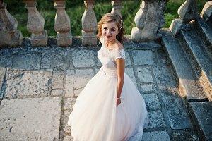 Portrait of an attractive bride stan