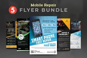 Mobile Repair Service Flyer Bundle