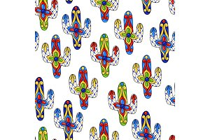 Mexican seamless pattern with
